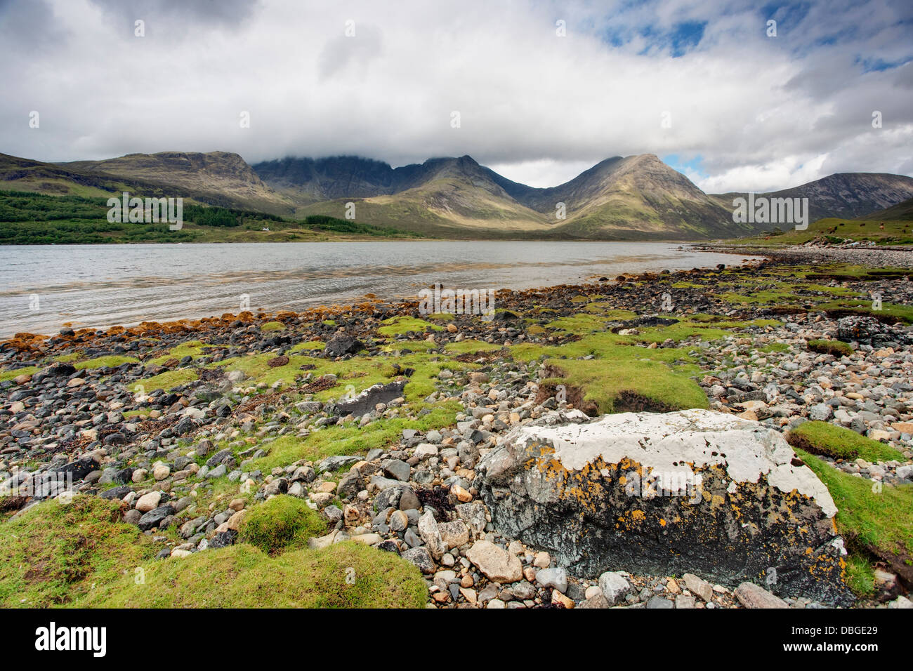 Bla Bheinn and Loch Slapin Isle of Skye, Inner Hebrides Scotland, UK LA006297 - Stock Image