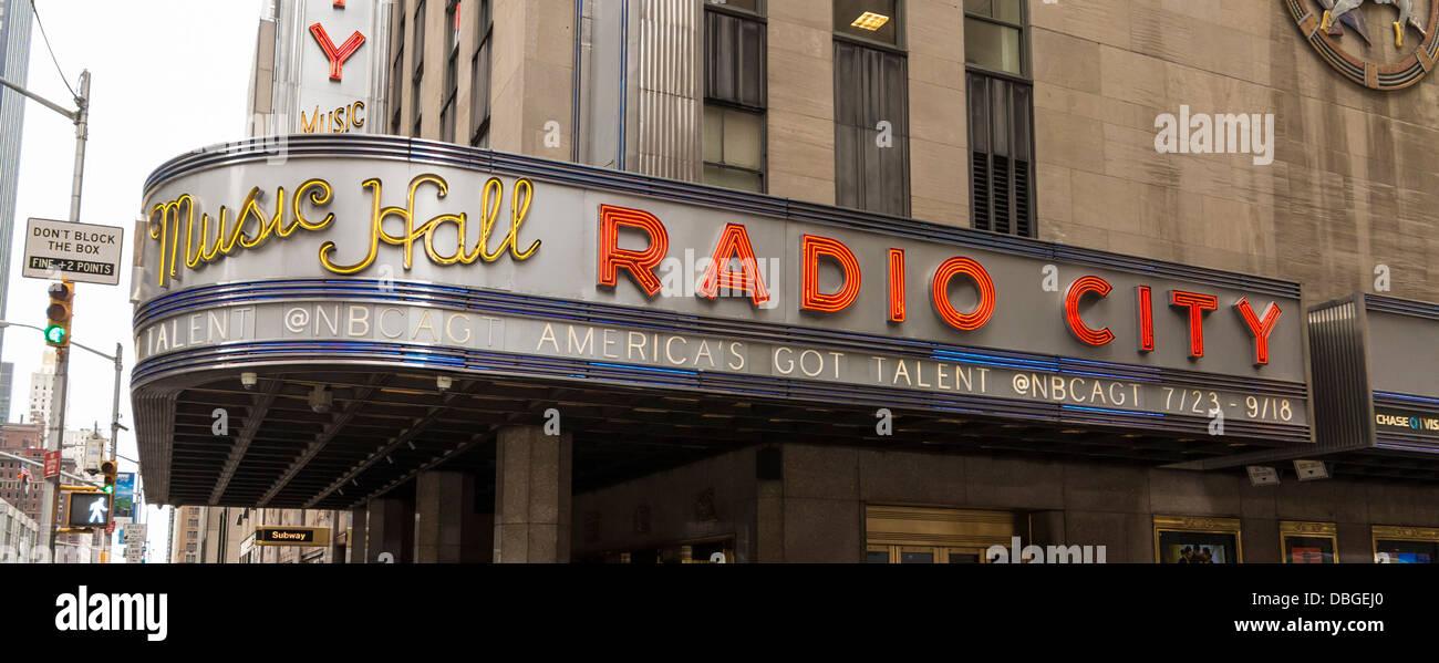 Radio City Music Hall, New York City - Stock Image