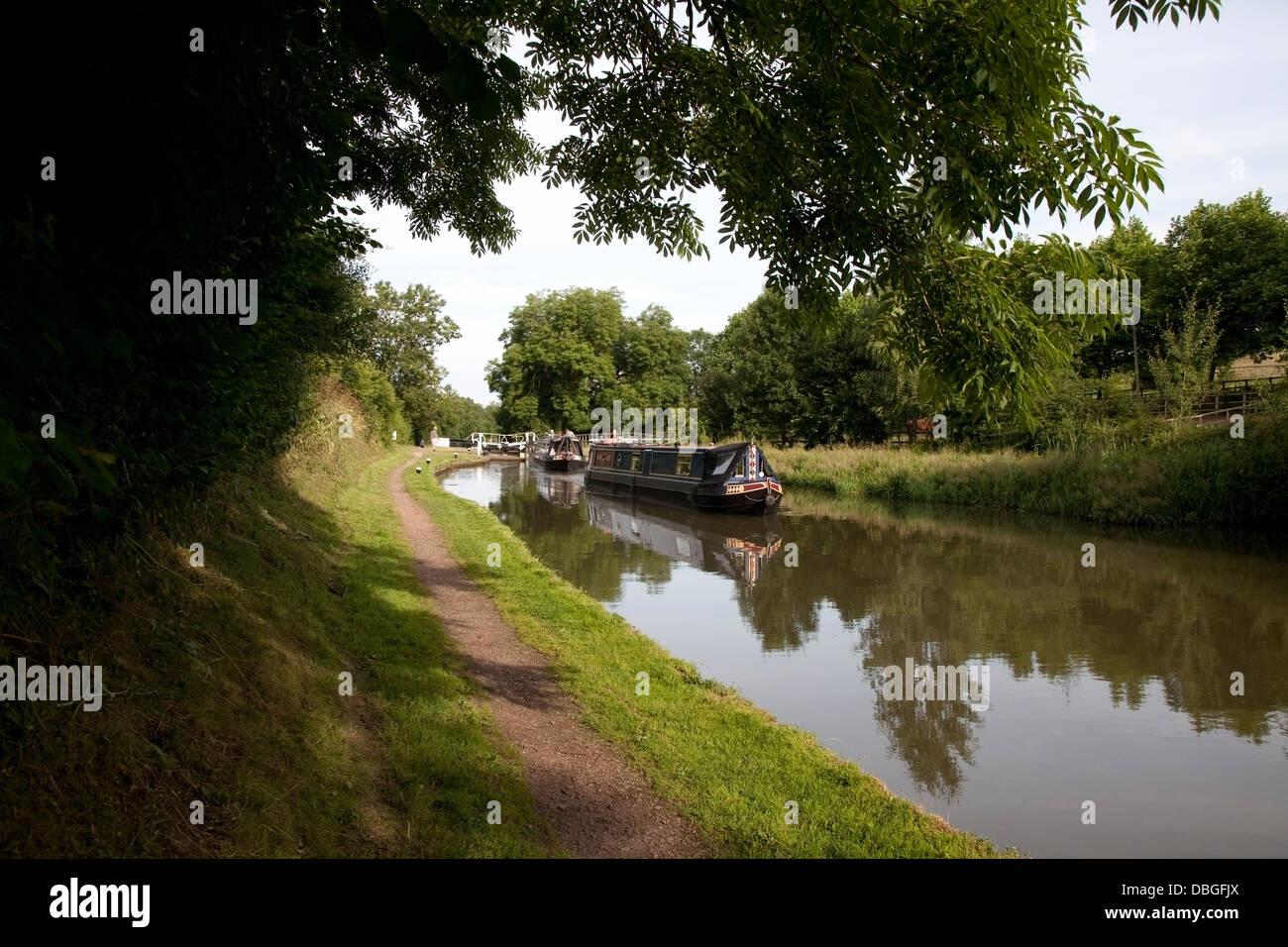 Braunston Flight Grand Union Canal - Stock Image