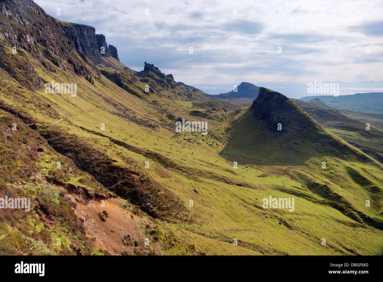 The Quiraing, Trotternish Peninsular Isle of Skye, Inner Hebrides Scotland, UK LA006379 - Stock Image