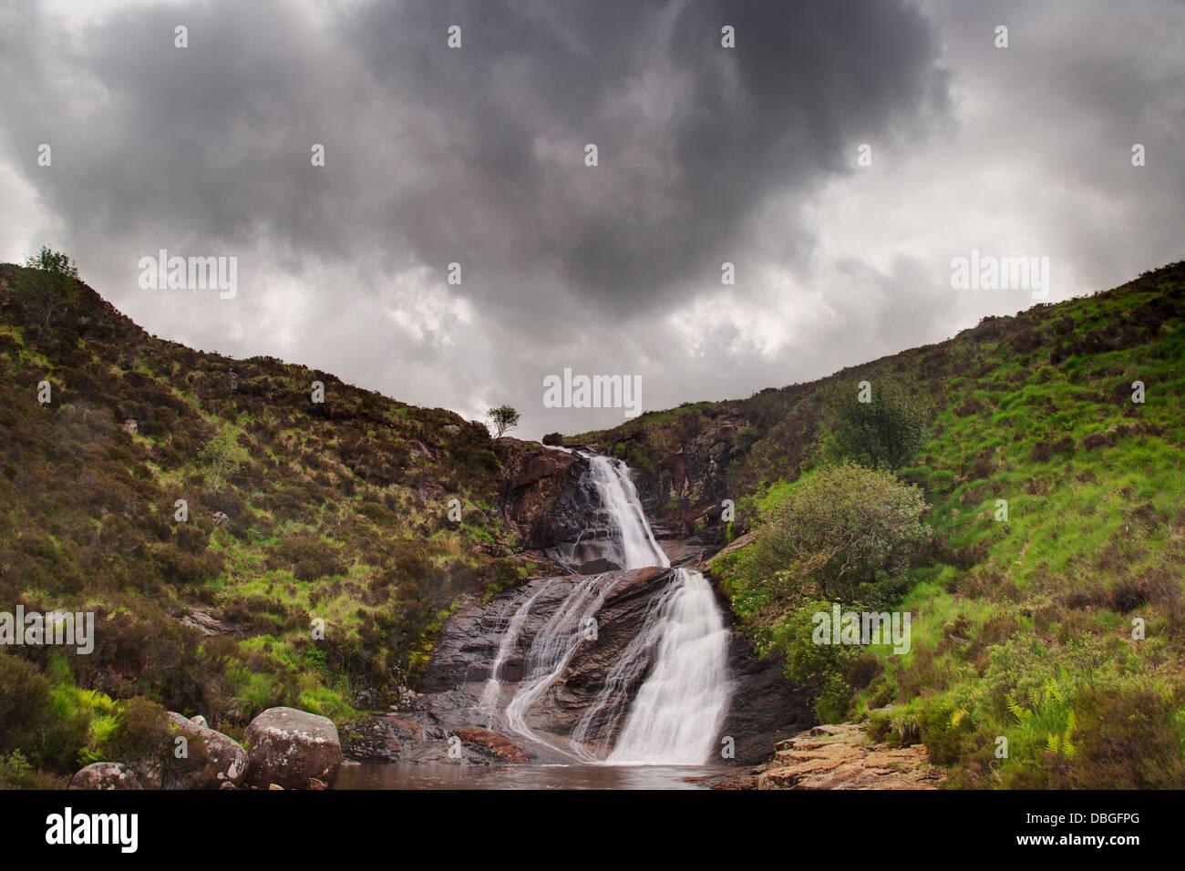 Waterfall Isle of Skye, Inner Hebrides Scotland, UK LA006490 - Stock Image