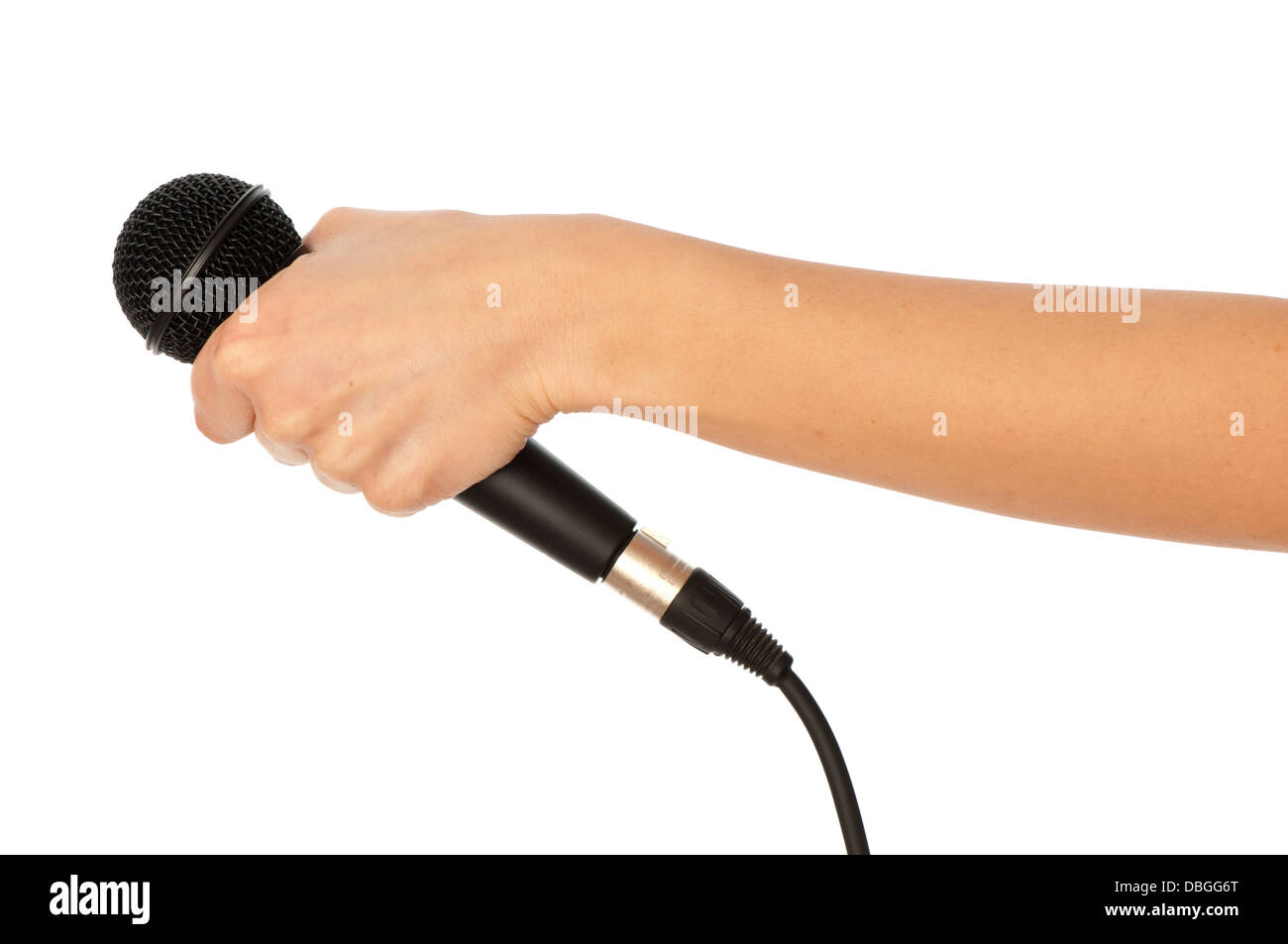 microphone for interview - Stock Image