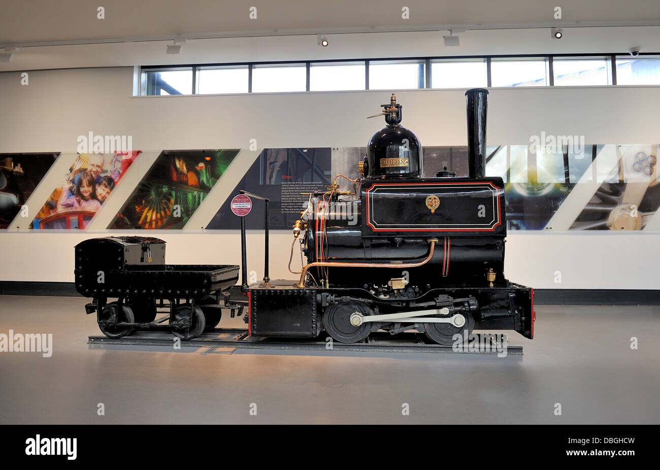 Steam locomotive Lancashire & Yorkshire Railway,  'Wren' built at Horwich Works in 1887 in the National - Stock Image