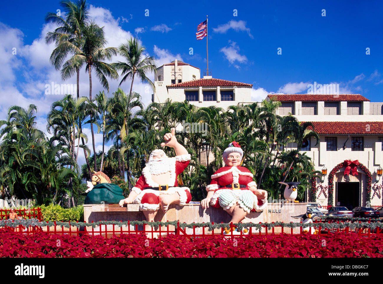 Hawaii Christmas.Honolulu Oahu Hawaii Hi Usa Santa Claus And Mrs Claus