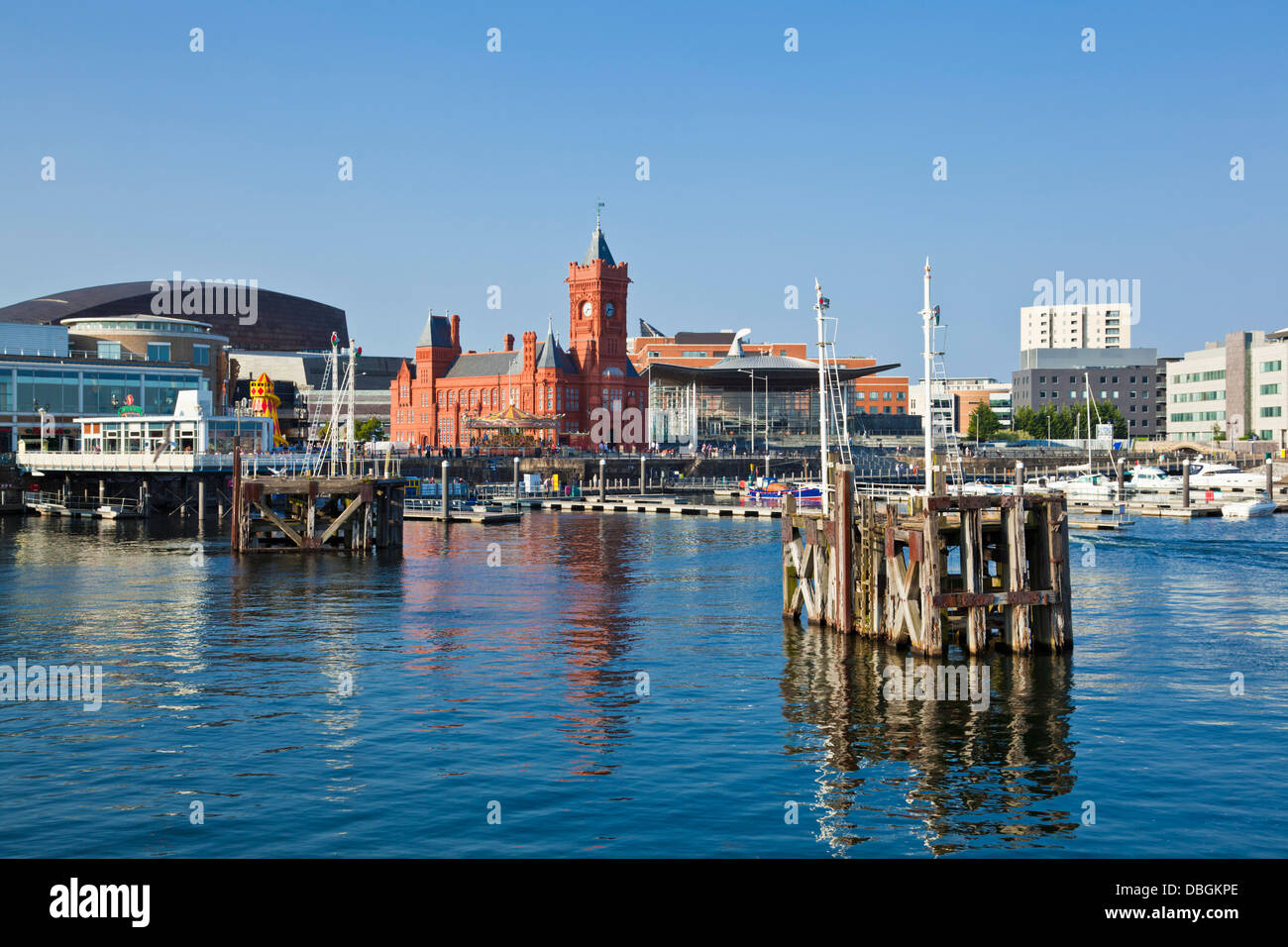 The restored Pierhead building  in Cardiff Bay Cardiff South Glamorgan South Wales GB UK EU Europe - Stock Image