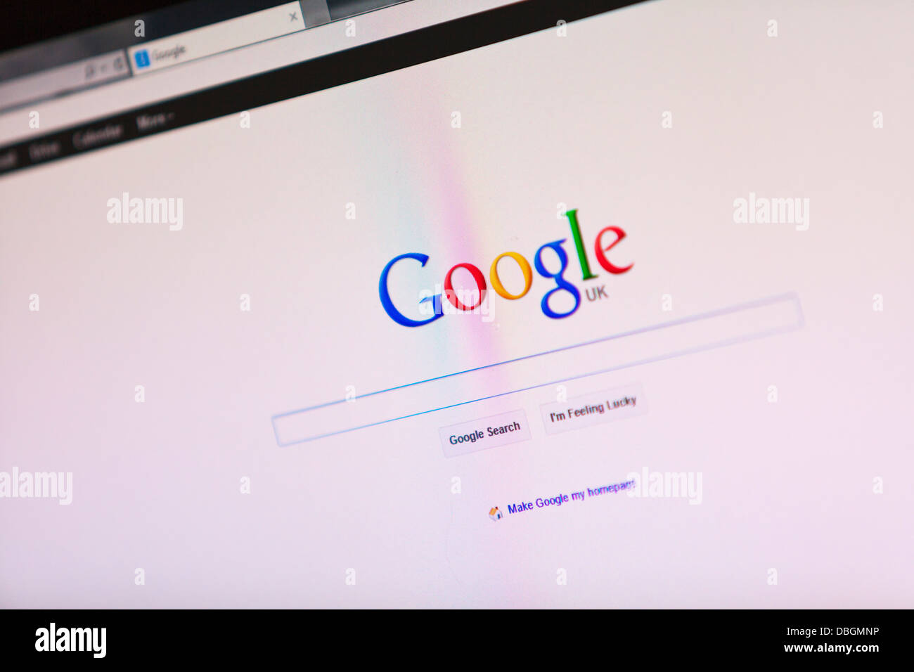 Photo Illustration of the Google logo and search engine online  service from the UK England - Stock Image