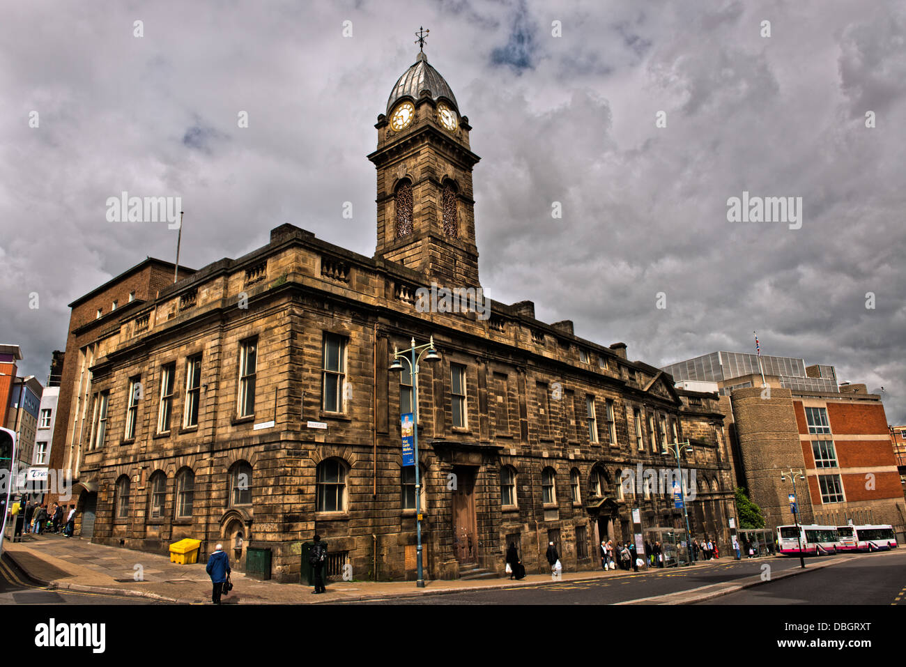 Sheffield courthouse now stands derelict in the city center. The Victorian building is awaiting redevelopment. - Stock Image