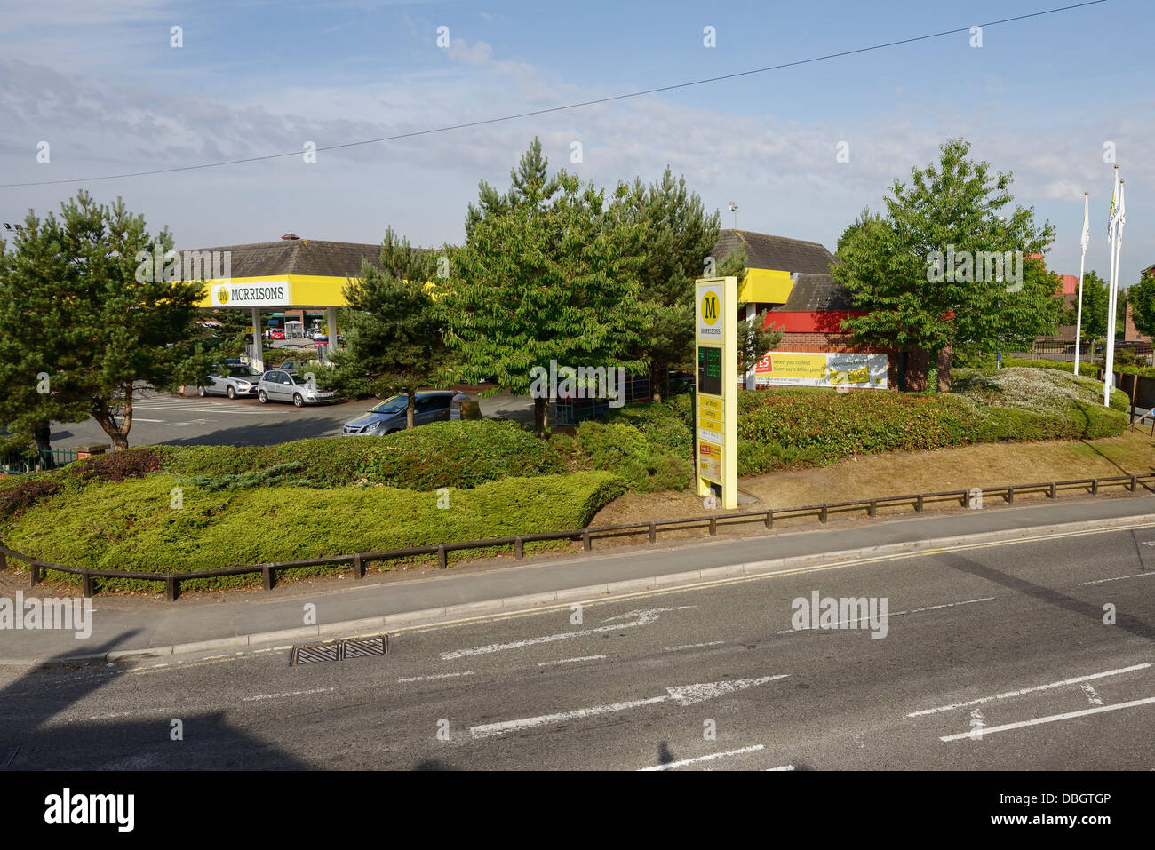 Morrisons petrol station in Stockton Heath Warrington UK - Stock Image