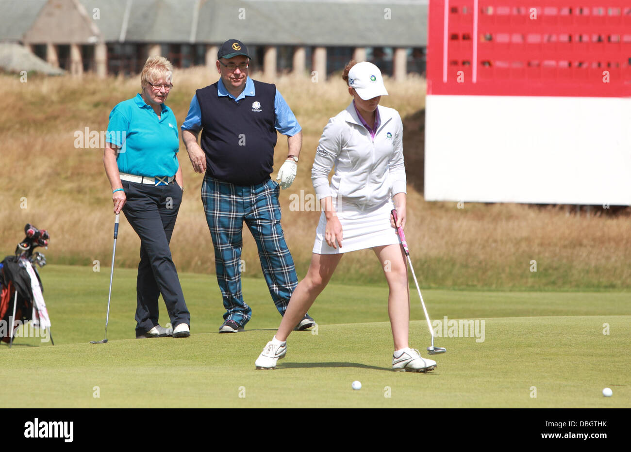 Connie Jaffrey,Alec Salmond plays in the Ricoh Women's British Open at The Old Course St Andrews Fife,Wedneday - Stock Image