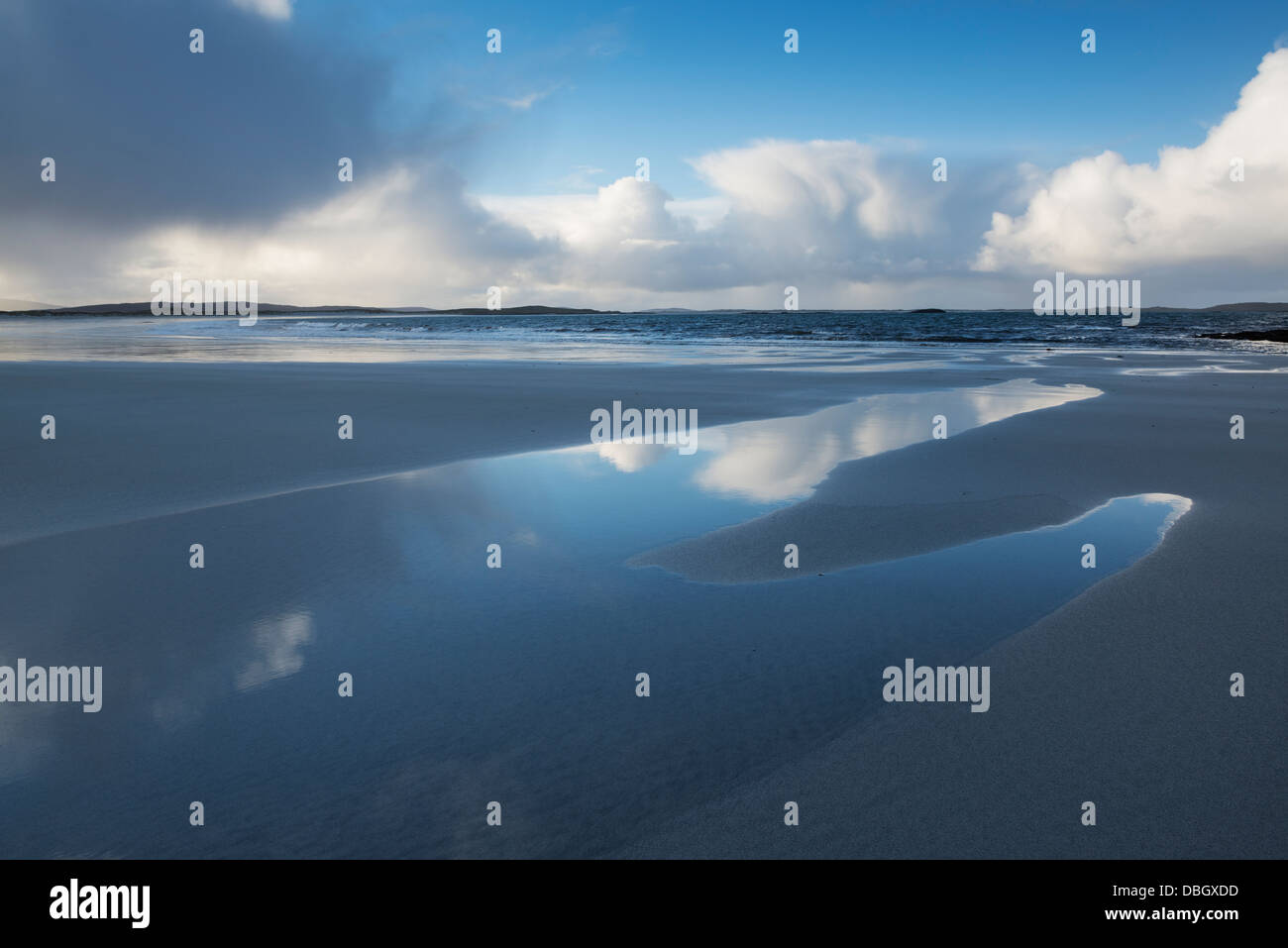 Traigh Hornais beach, North Uist, Outer Hebrides, Scotland - Stock Image