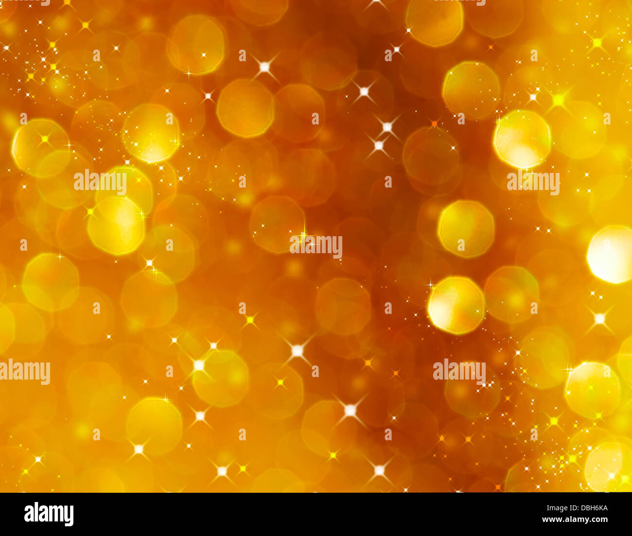 Christmas Glittering background. Holiday Gold abstract texture. Bokeh - Stock Image