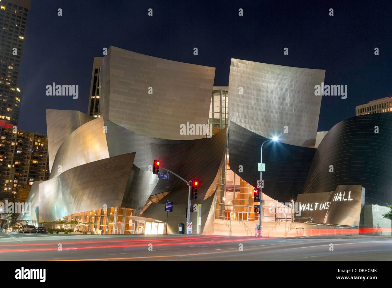 Walt Disney Concert Hall in Los Angeles, California Stock Photo