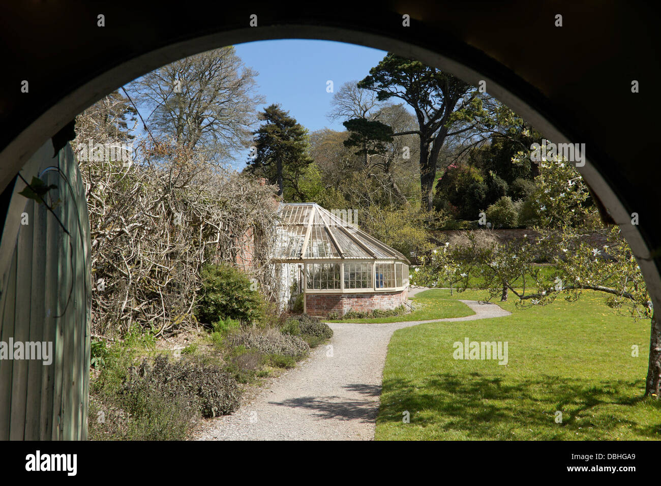 The Victorian greenhouse at Greenway, the late Agatha Christie's summer residence, Devon, England, Great Britain, - Stock Image