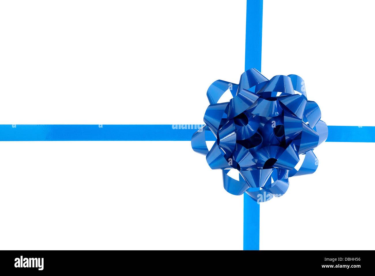 blue bow - Stock Image