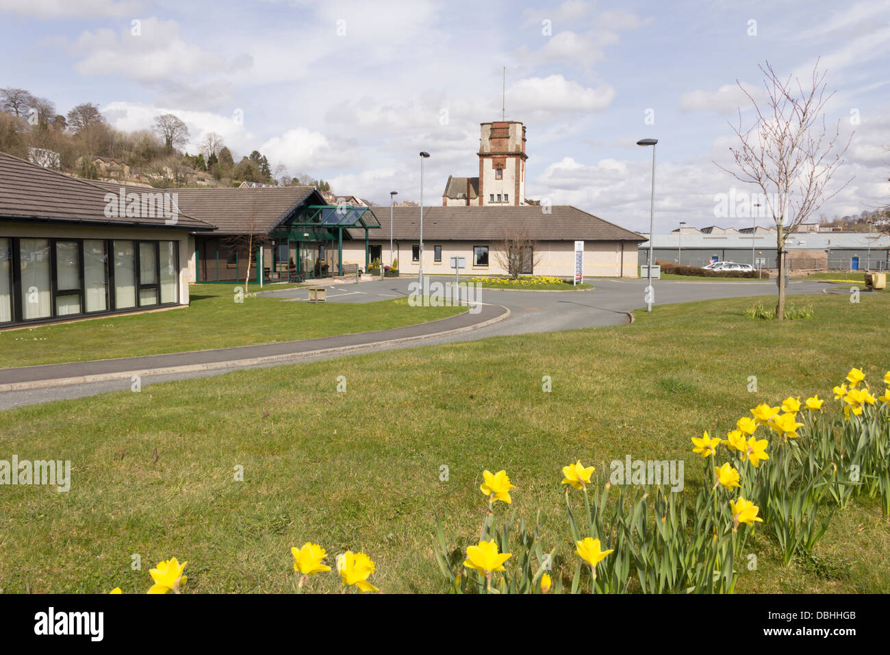 Hawick Community Hospital in the NHS Borders region  and the historic county of Roxburghshire. - Stock Image