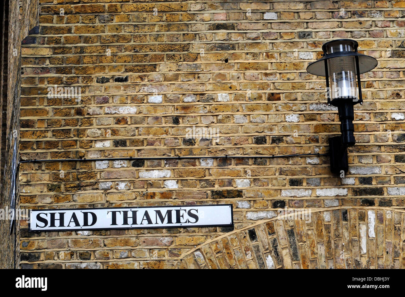 Shad Thames Street sign, London, UK - Stock Image
