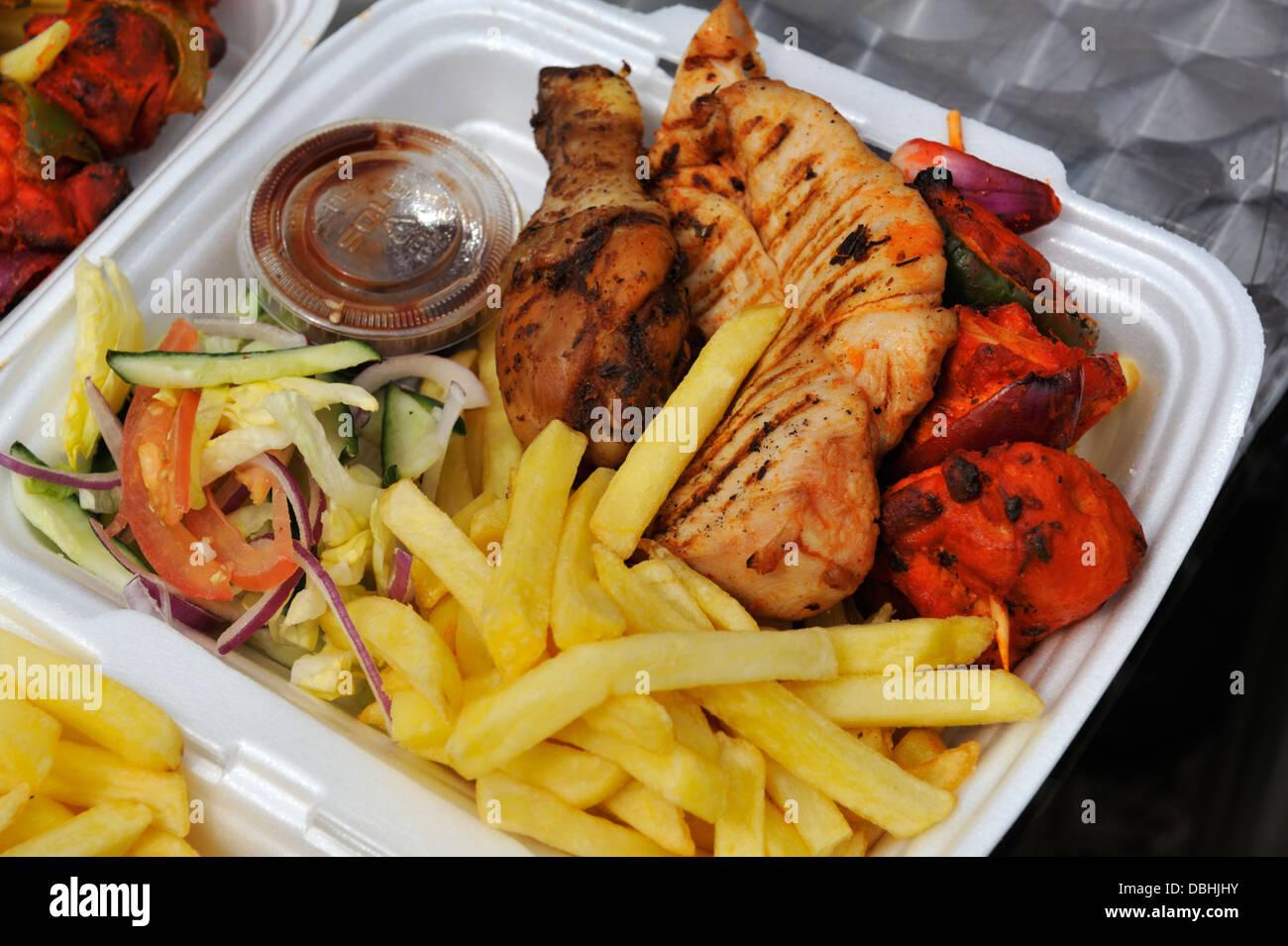Take away food - Stock Image