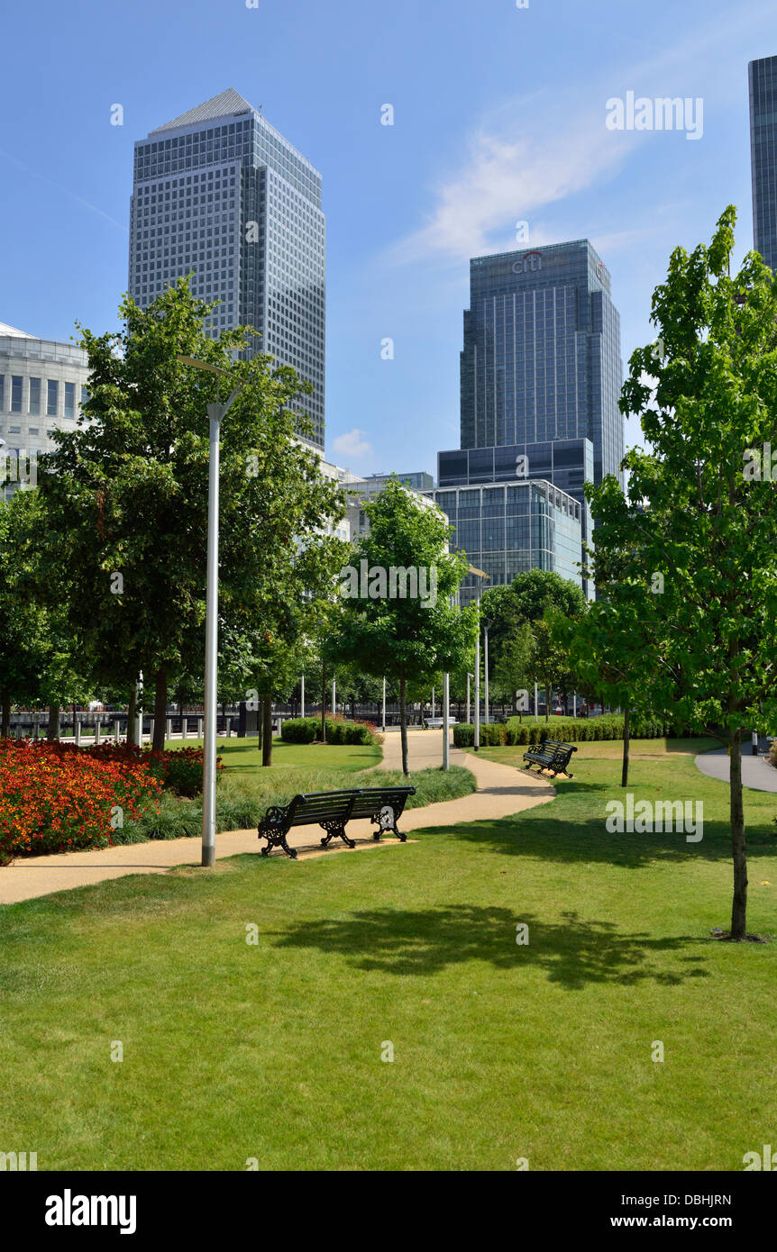 Canary Wharf Estate, Isle of Dogs, Docklands, London E14, United Kingdom - Stock Image