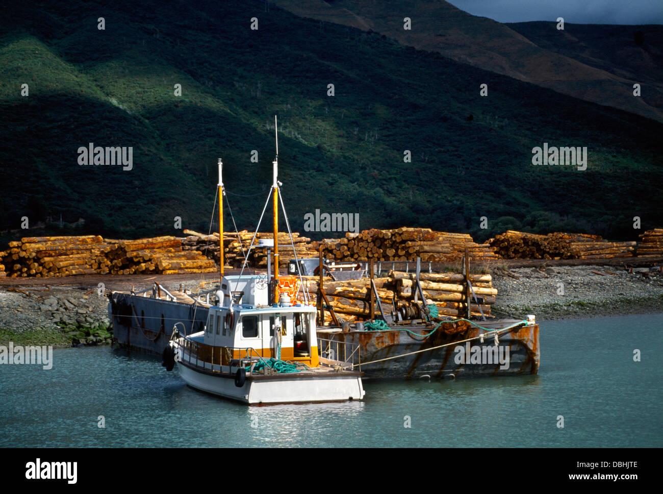 New Zealand Havelock Timber Exports - Stock Image