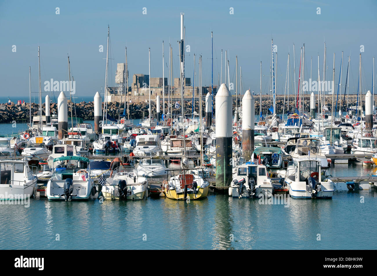 Port of Le Havre, commune in the Seine-Maritime department in the Haute-Normandie region in northwestern France - Stock Image