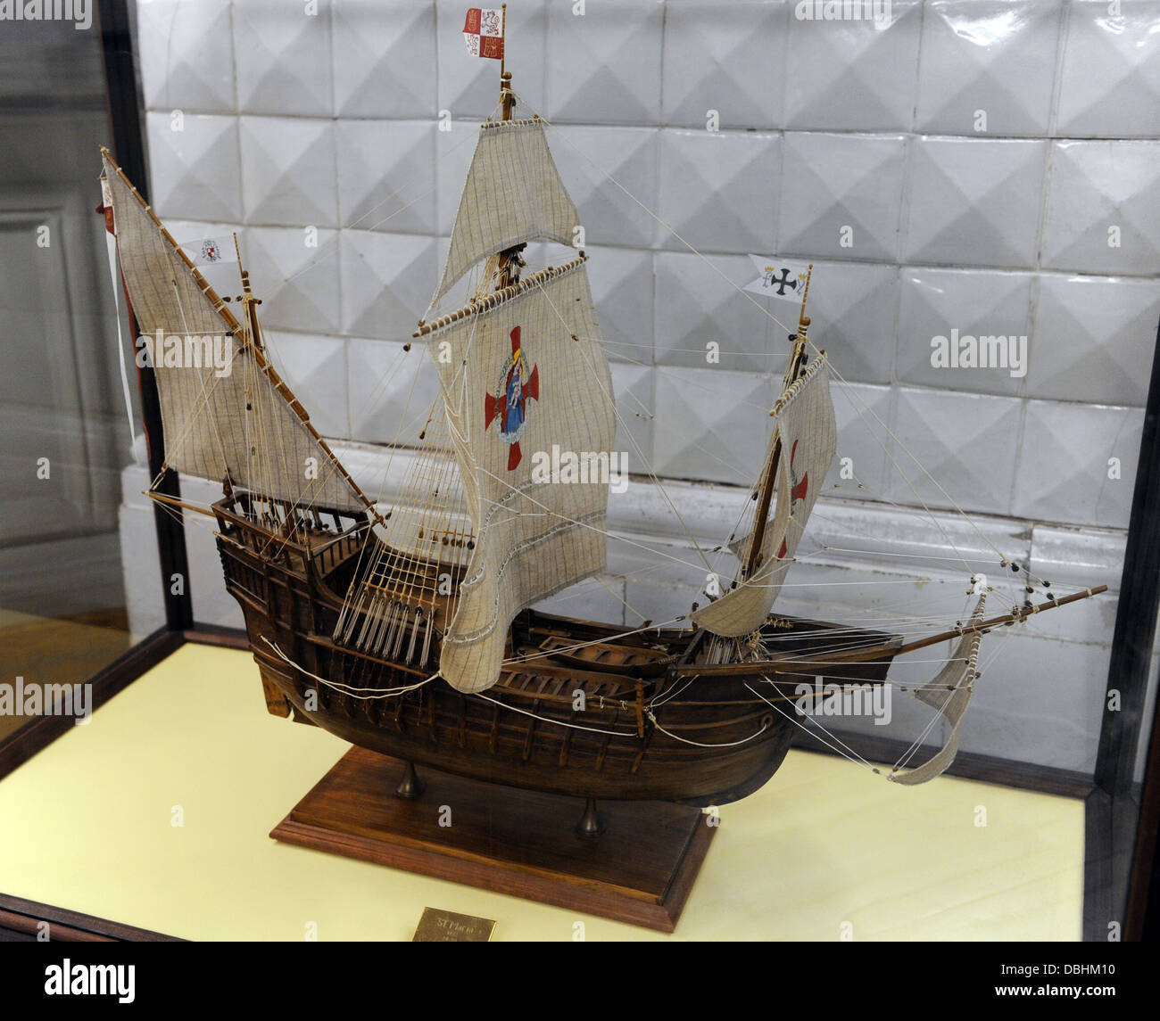 La Santa María. Nao used by Christopher Columbus in this first voyage. Model: 1:50. - Stock Image