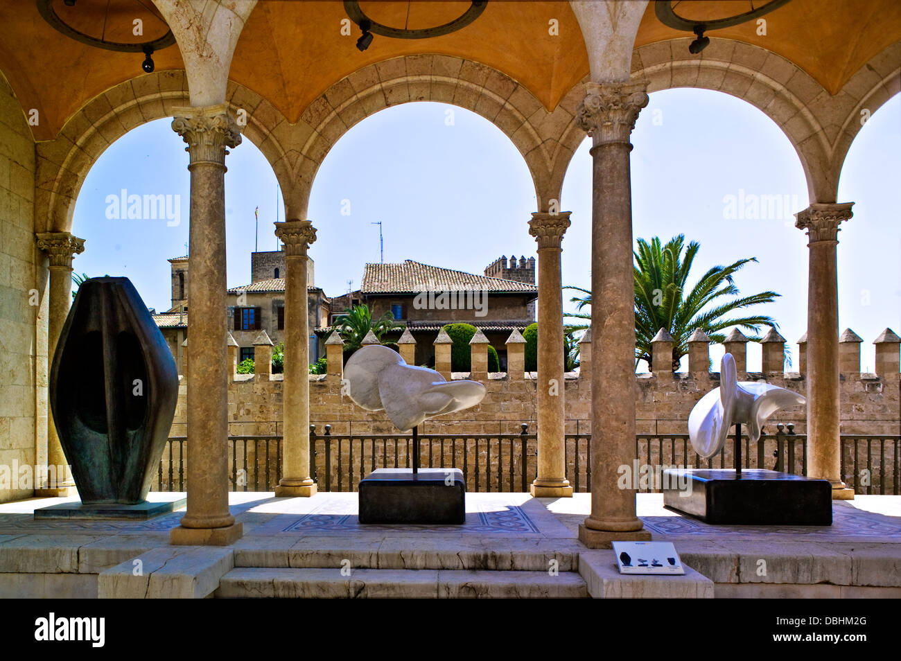 Sculpture at the palau march palma de mallorca stock