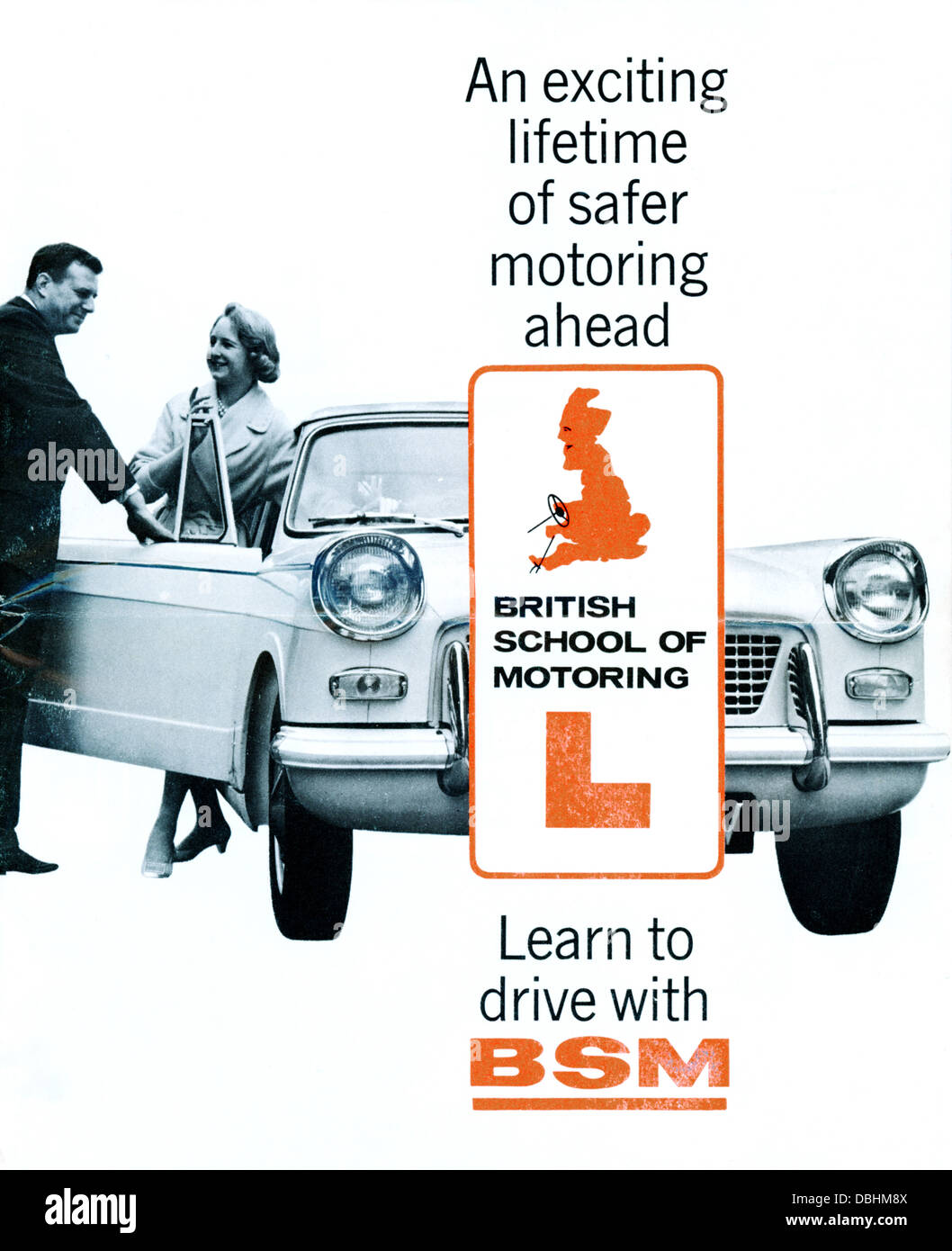 Leaflet by the BSM British School of Motoring on Safety 1972 seventies - Stock Image