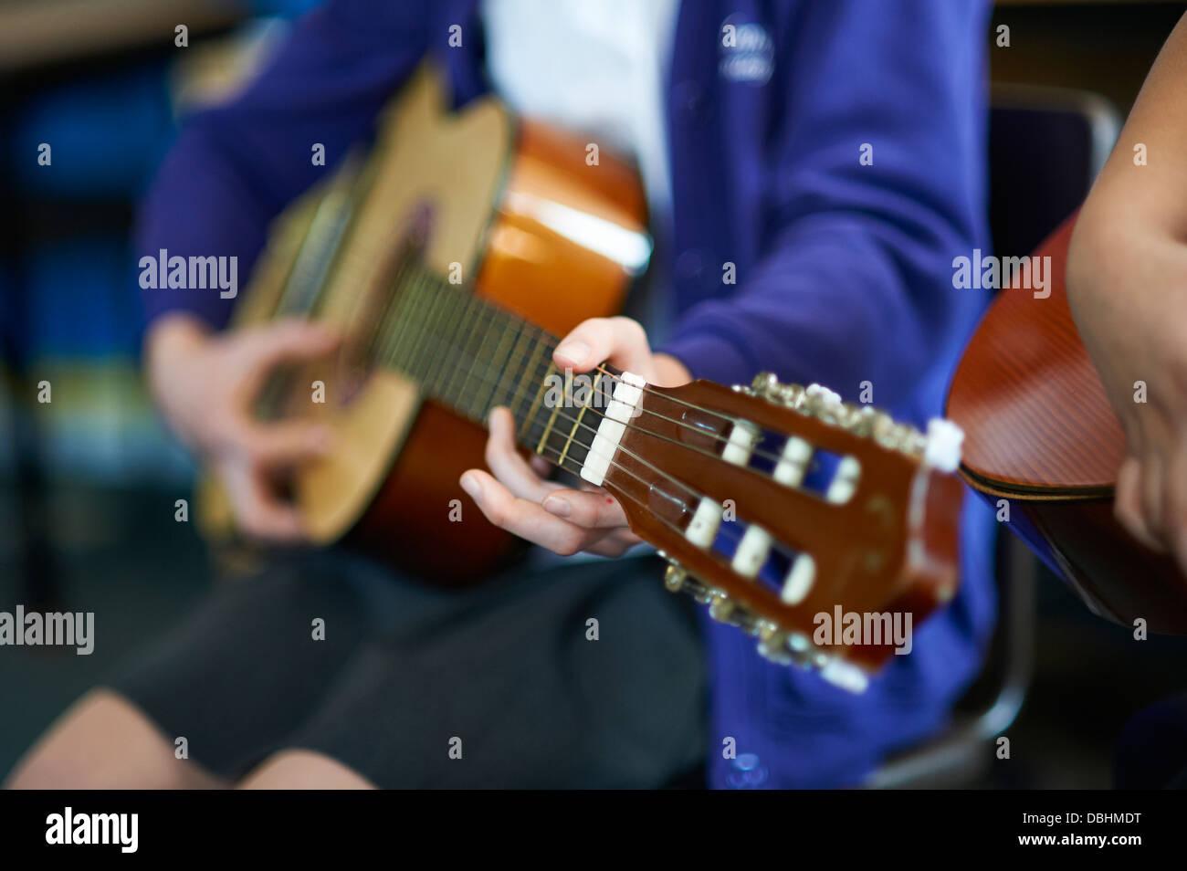 school guitar - Stock Image