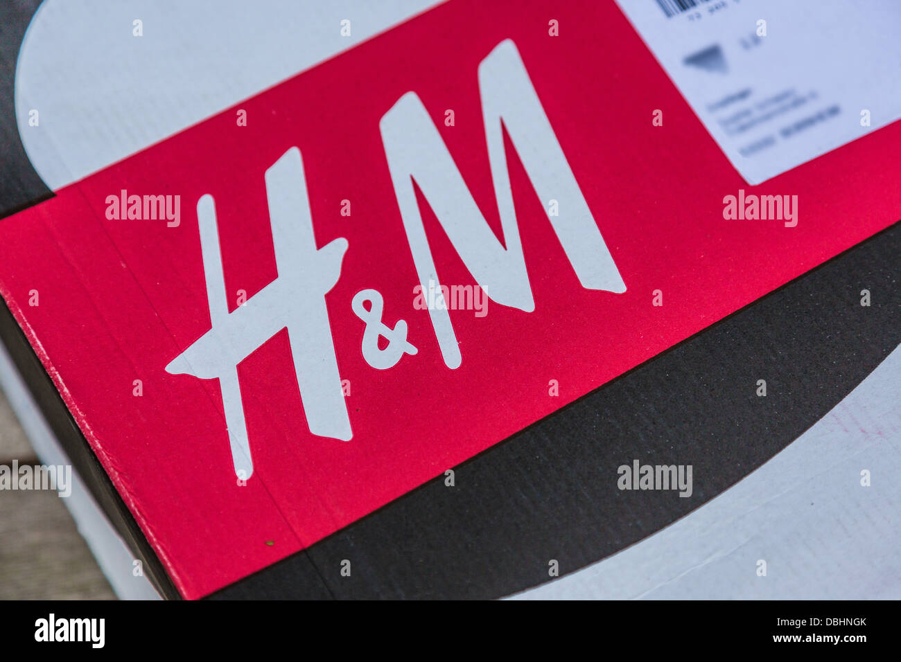 Package of fashion retailer H&M. - Stock Image