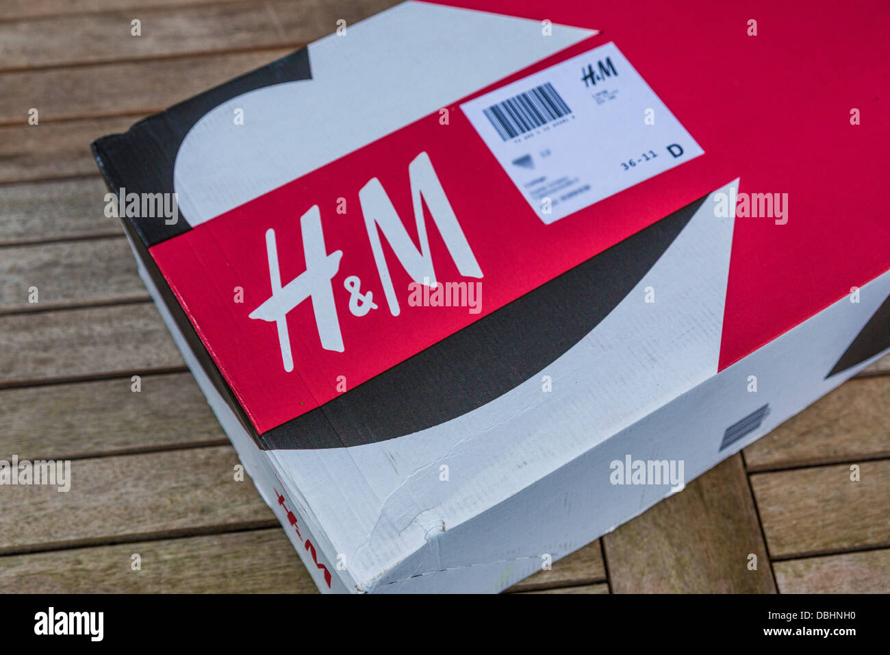 Package of fashion retailer H&M. Stock Photo