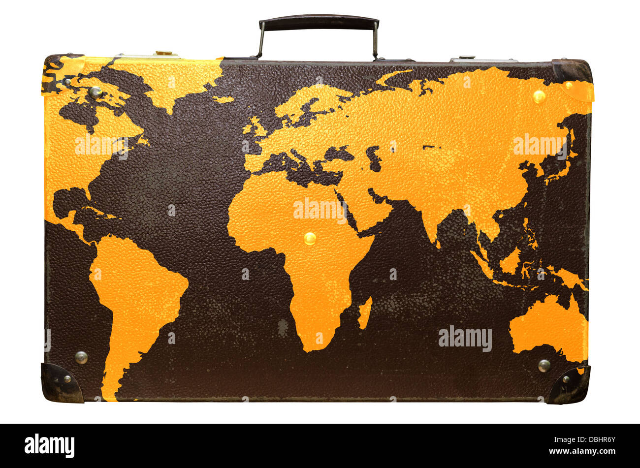 Vintage suitcase stock photos vintage suitcase stock images alamy old suitcase globetrotter with a world map stock image gumiabroncs Gallery