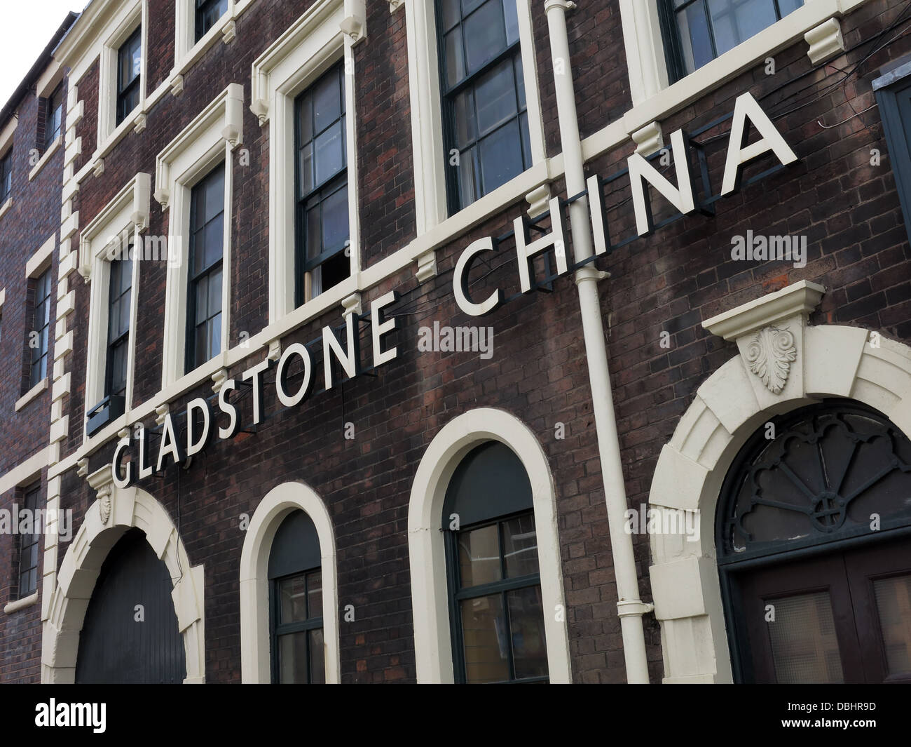 The Gladstone China Factory in Longton , Stoke-on-Trent , Staffordshire Potteries , English Midlands , England GB - Stock Image