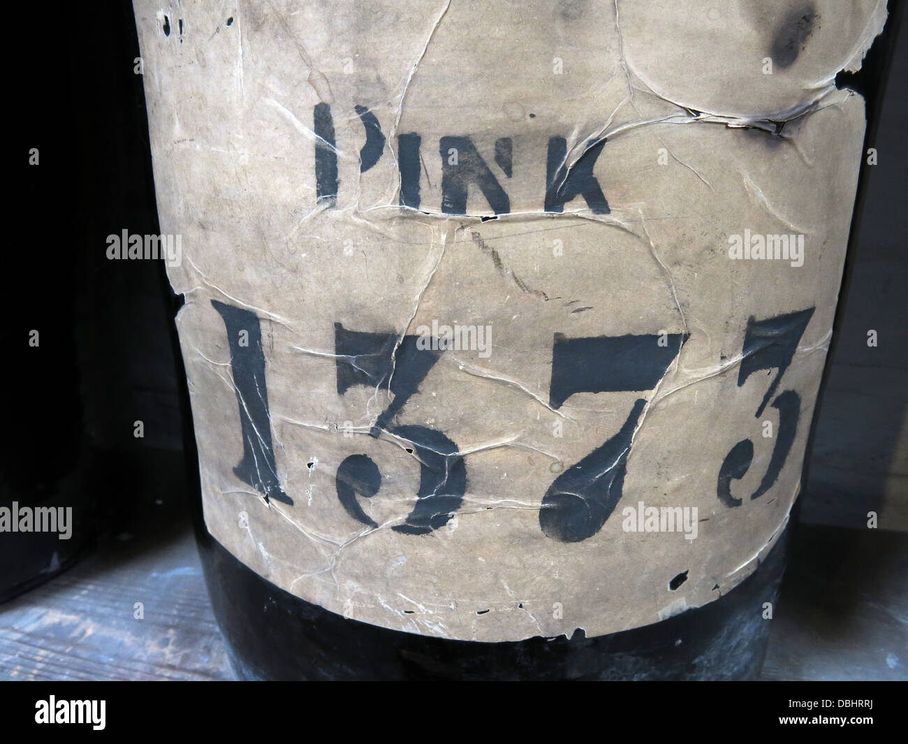 A single pot of colour from Longton Stoke-On-Trent Great Britain showing potteries heritage at the Gladstone Pottery - Stock Image