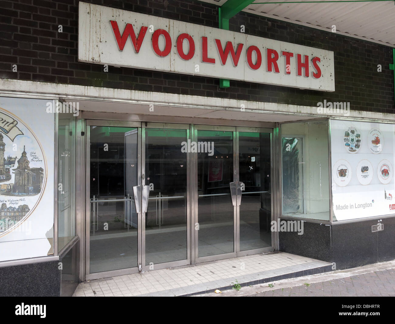 Empty Woolworths Store Longton SOT Stoke 2013. - Stock Image