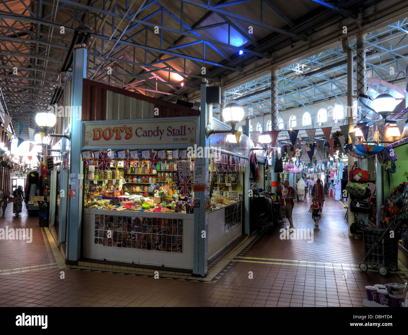 Dots Candy Stall at Longton indoor Market Hall, Stoke on trent , Staffordshire, England, UK - Stock Image