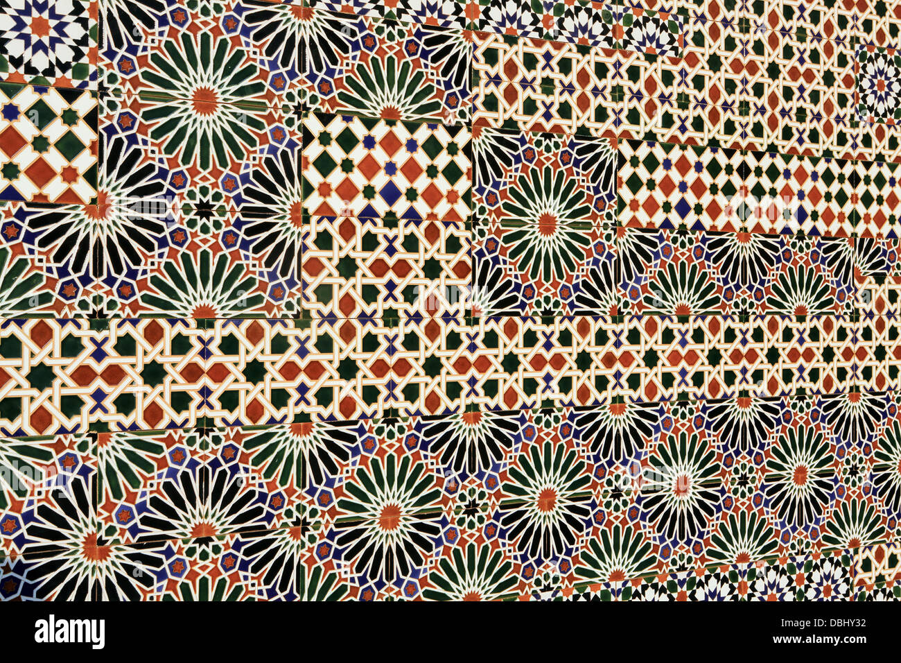 Ceramic wall tiles exterior public mural, Toledo, Spain - Stock Image
