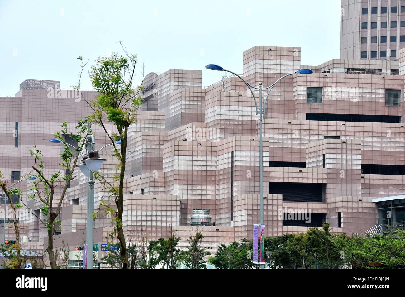 modern buildings Trade World Center Taipei Taiwan Asia - Stock Image