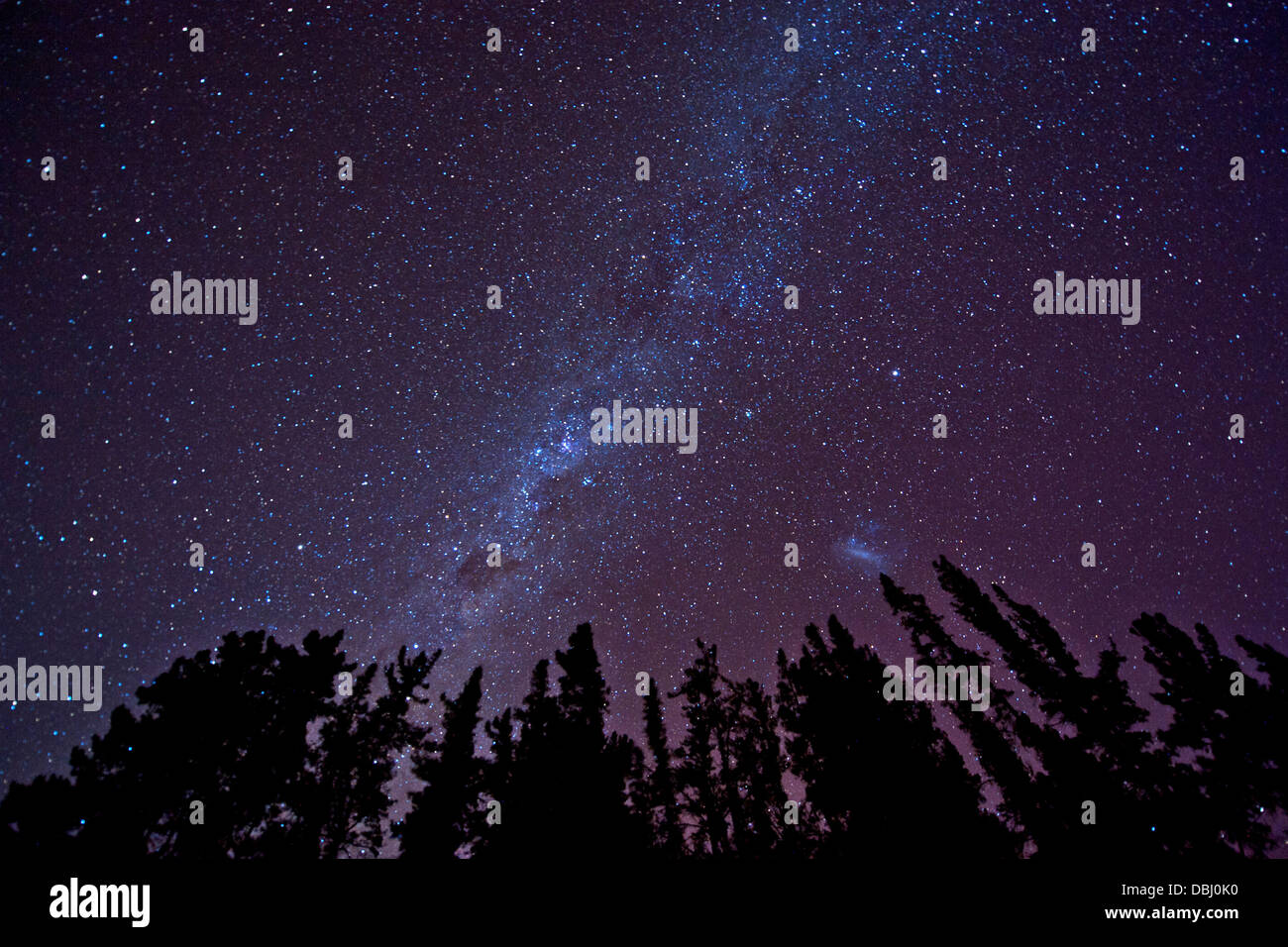 Milky Way seen from the Cederberg Mountains in South Africa. - Stock Image