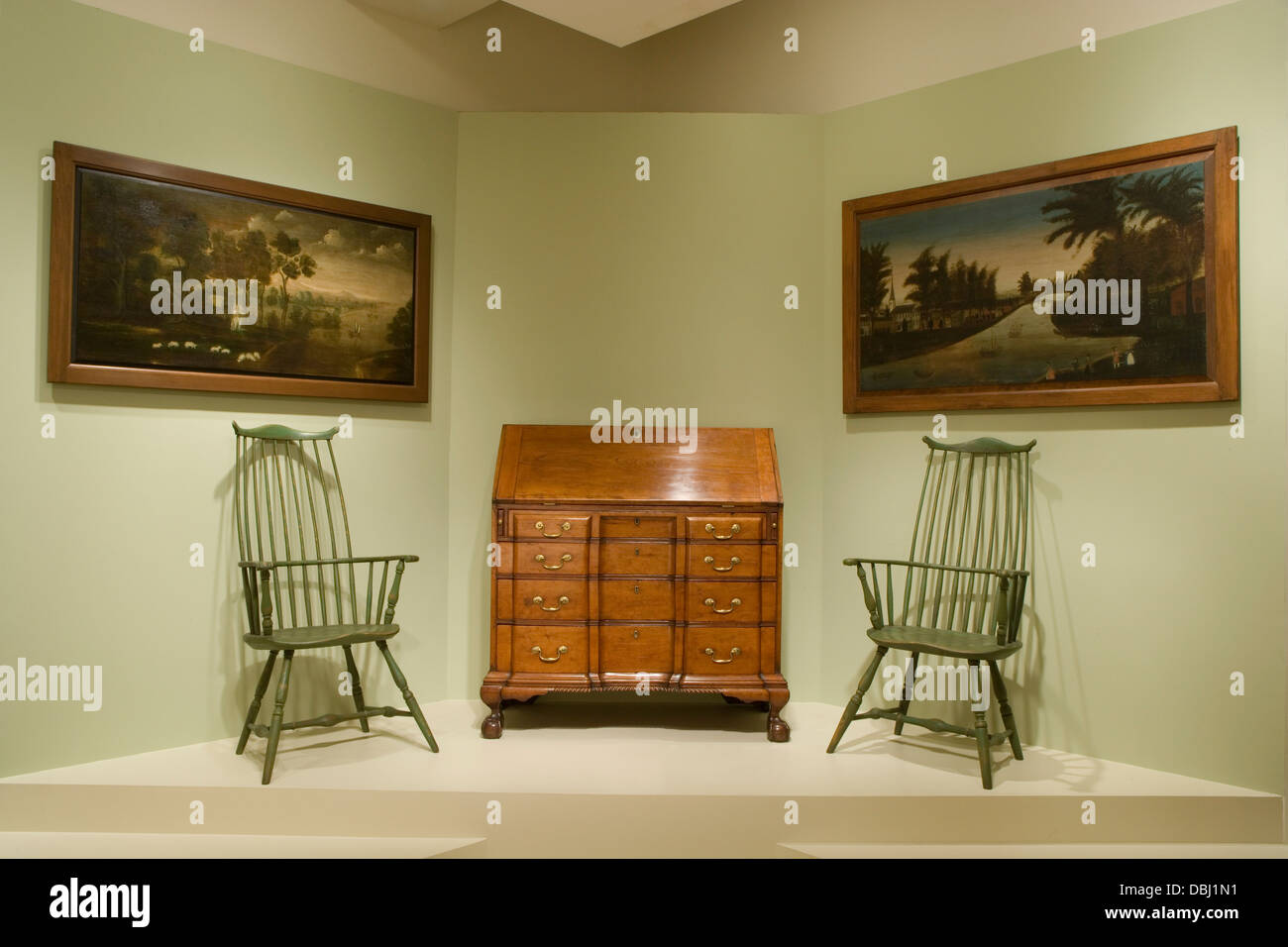 Worcester Worcester Art Museum Early American Furniture Slant