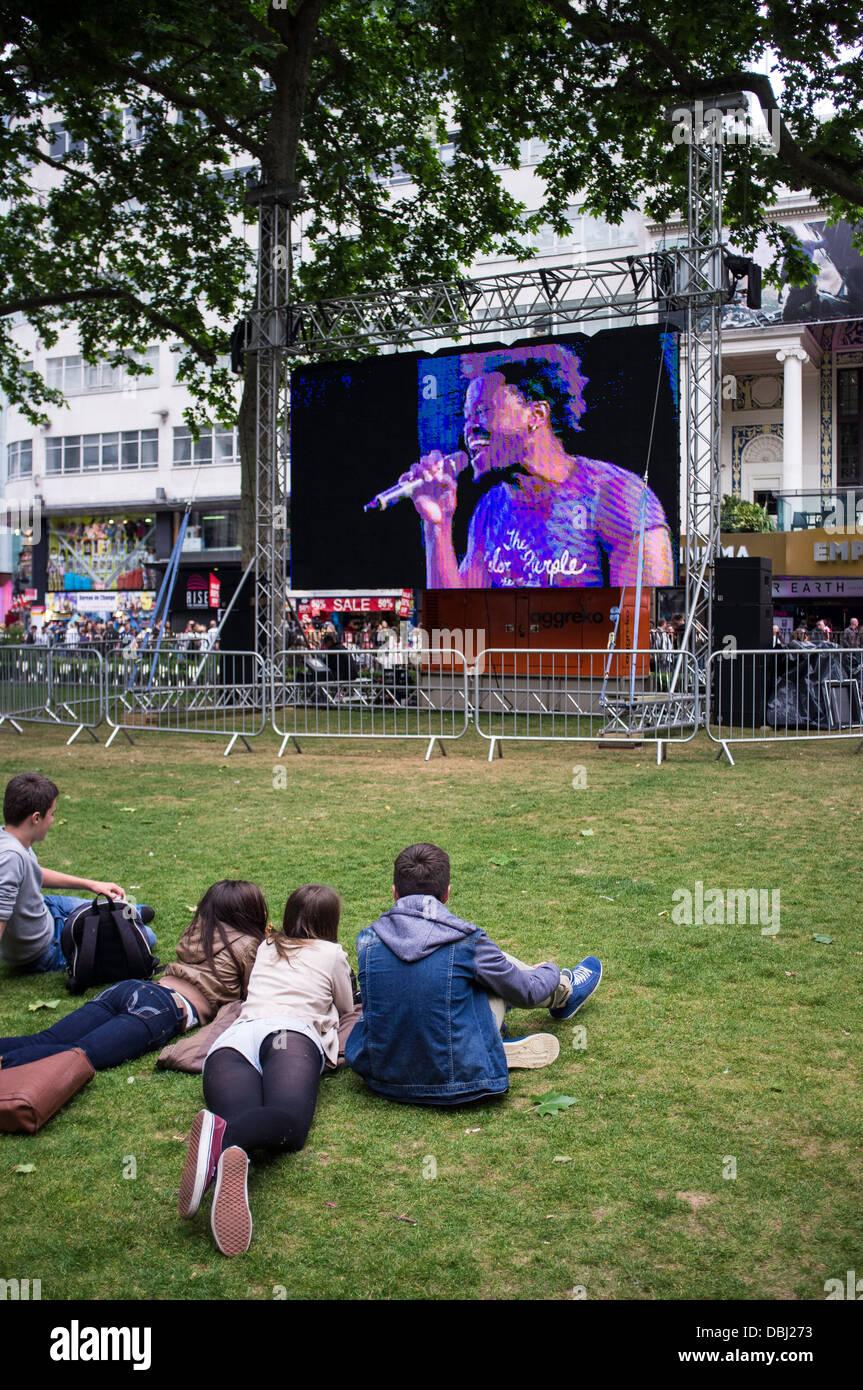 Leicester square london United Kingdom - Stock Image