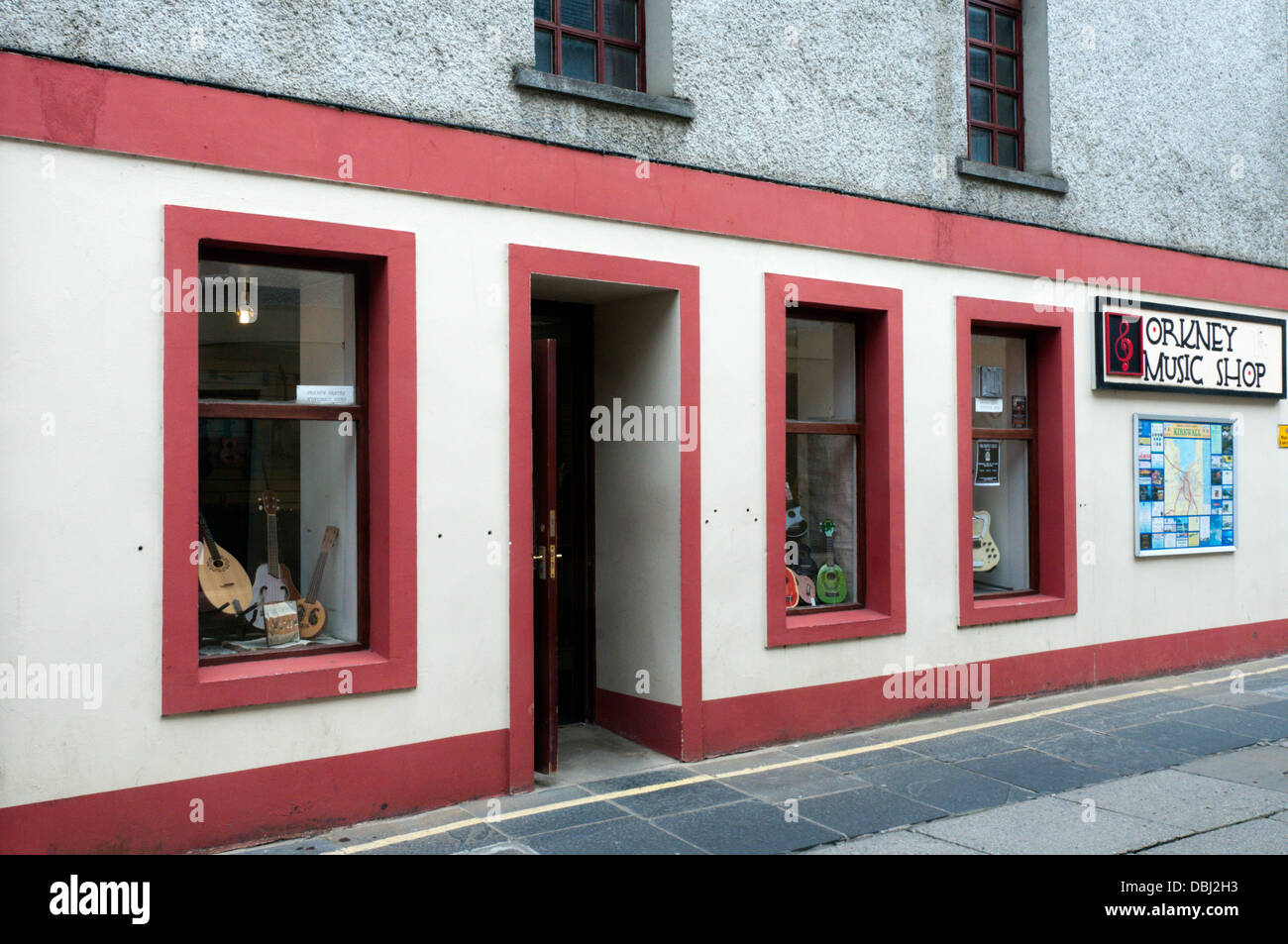 The Orkney Music Shop in Kirkwall. - Stock Image