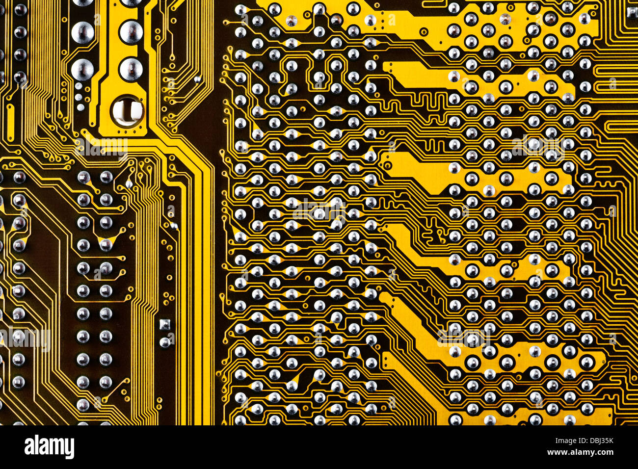 Electronic Circuit Board Background Close Up Stock Photo 58789967