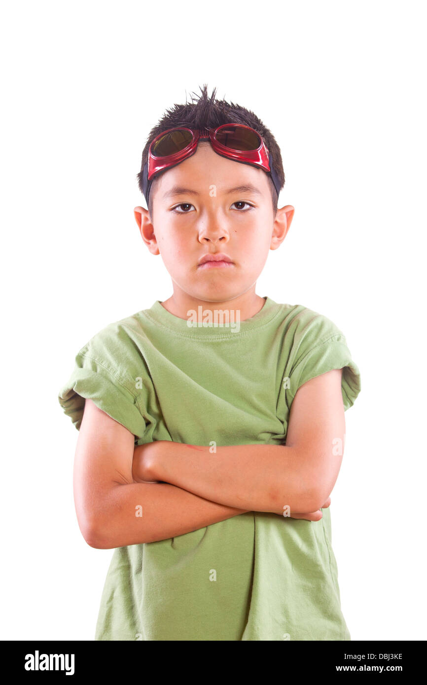 Tough boy look. - Stock Image