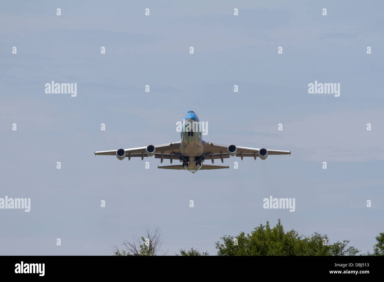Air Force One on take off from Chattanooga, Tennessee. - Stock Image