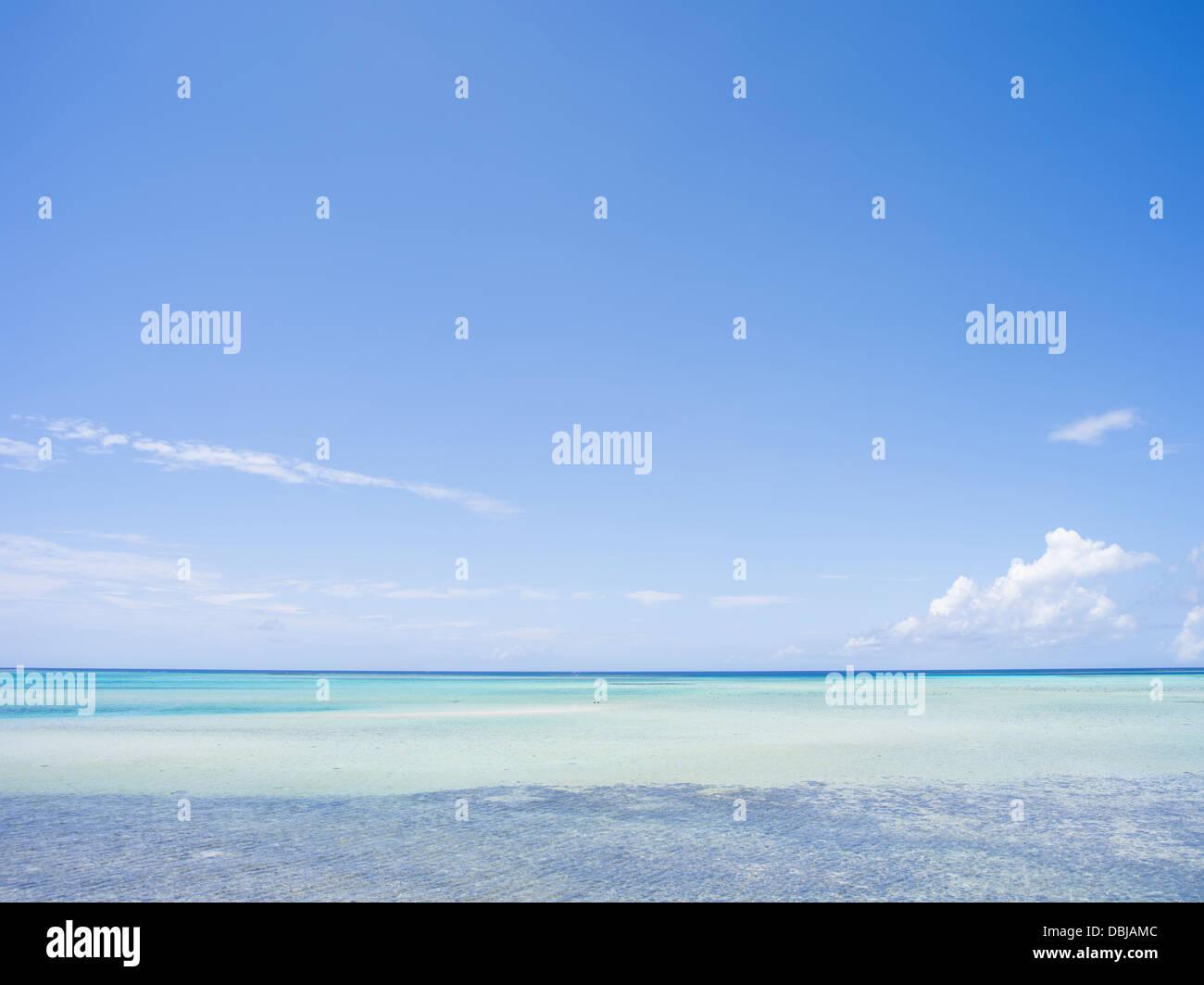 Beautiful Ocean - Miyako Island, Okinawa, Japan - Stock Image