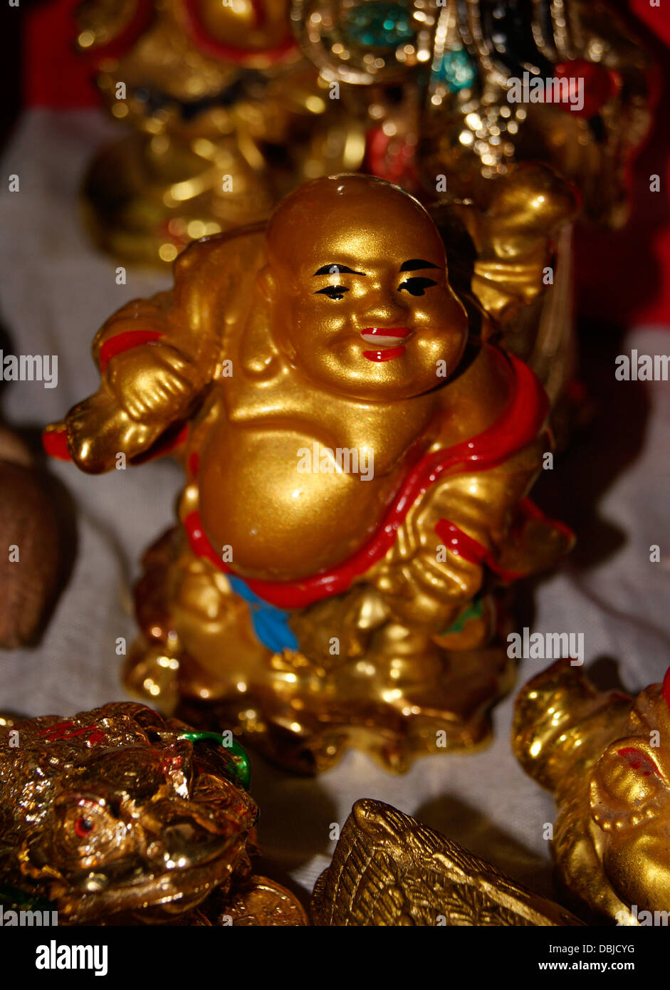 golden laughing buddha feng shui stock photos golden. Black Bedroom Furniture Sets. Home Design Ideas
