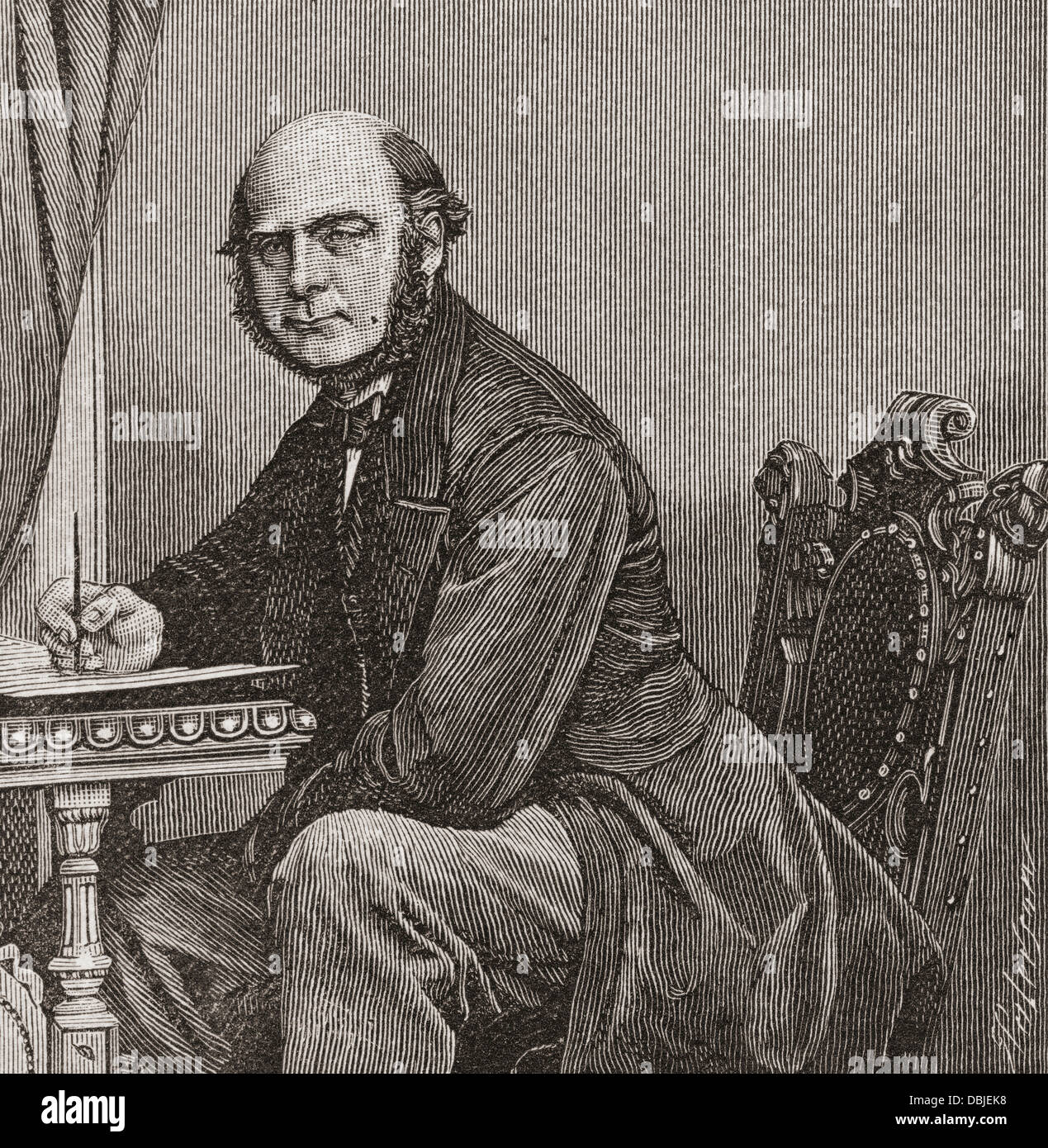 Sir Francis Galton, 1822 – 1911. English polymath. - Stock Image