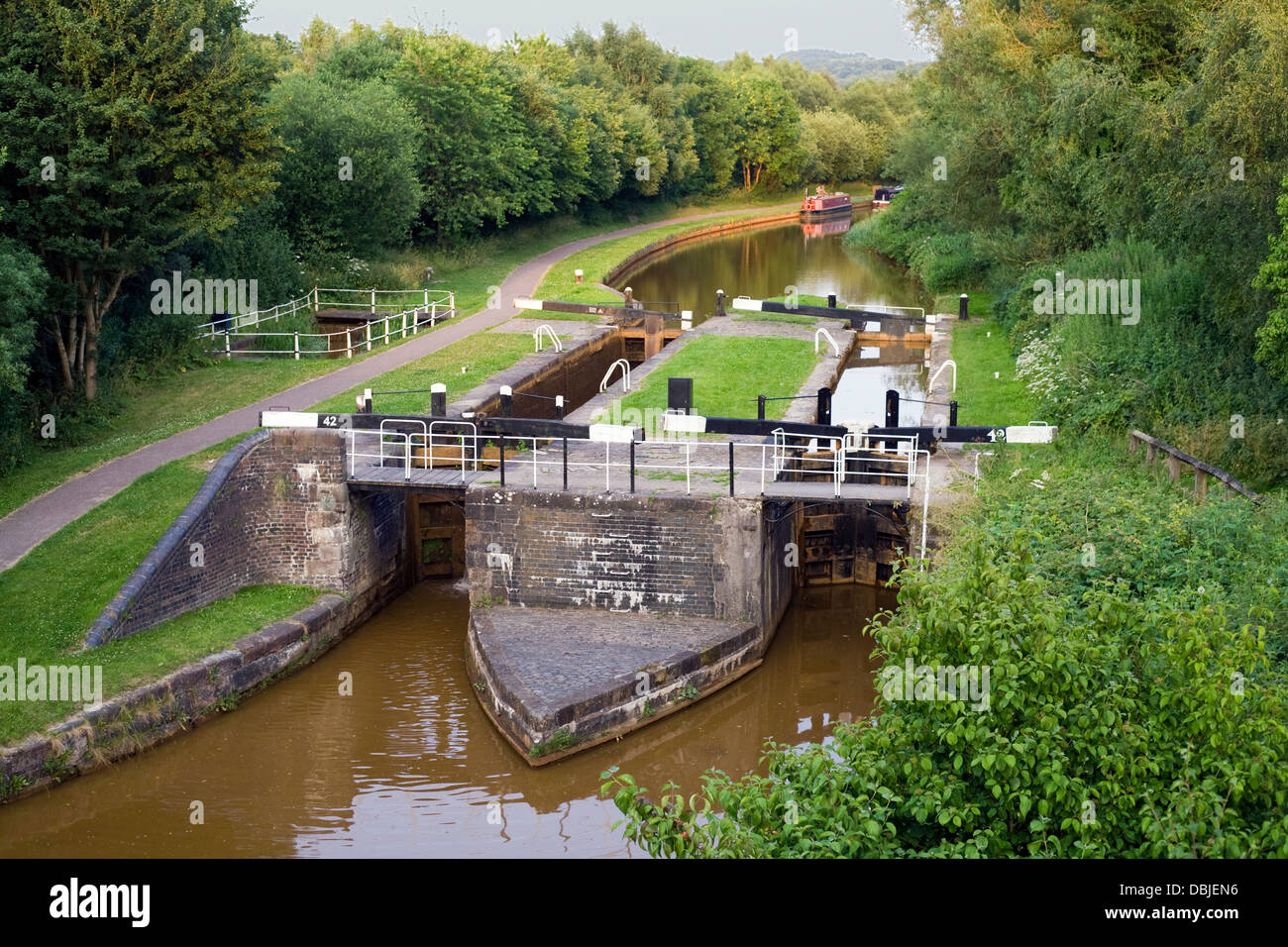 Duplex Lock, Trent and Mersey Canal. - Stock Image