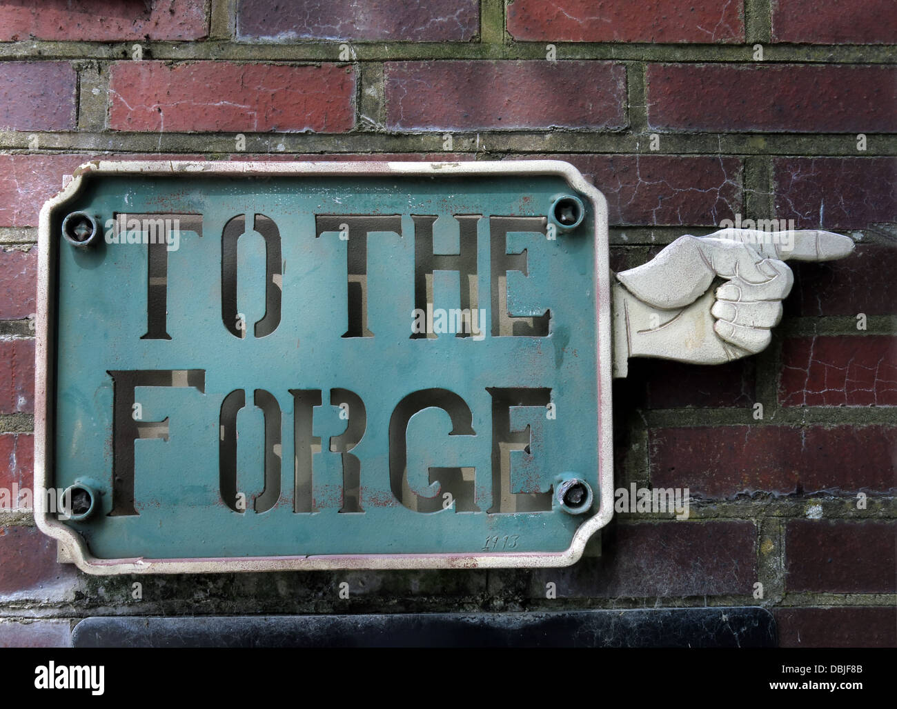 Historic To The Forge sign in Etruria Industrial Museum near Stoke-on-Trent - Stock Image