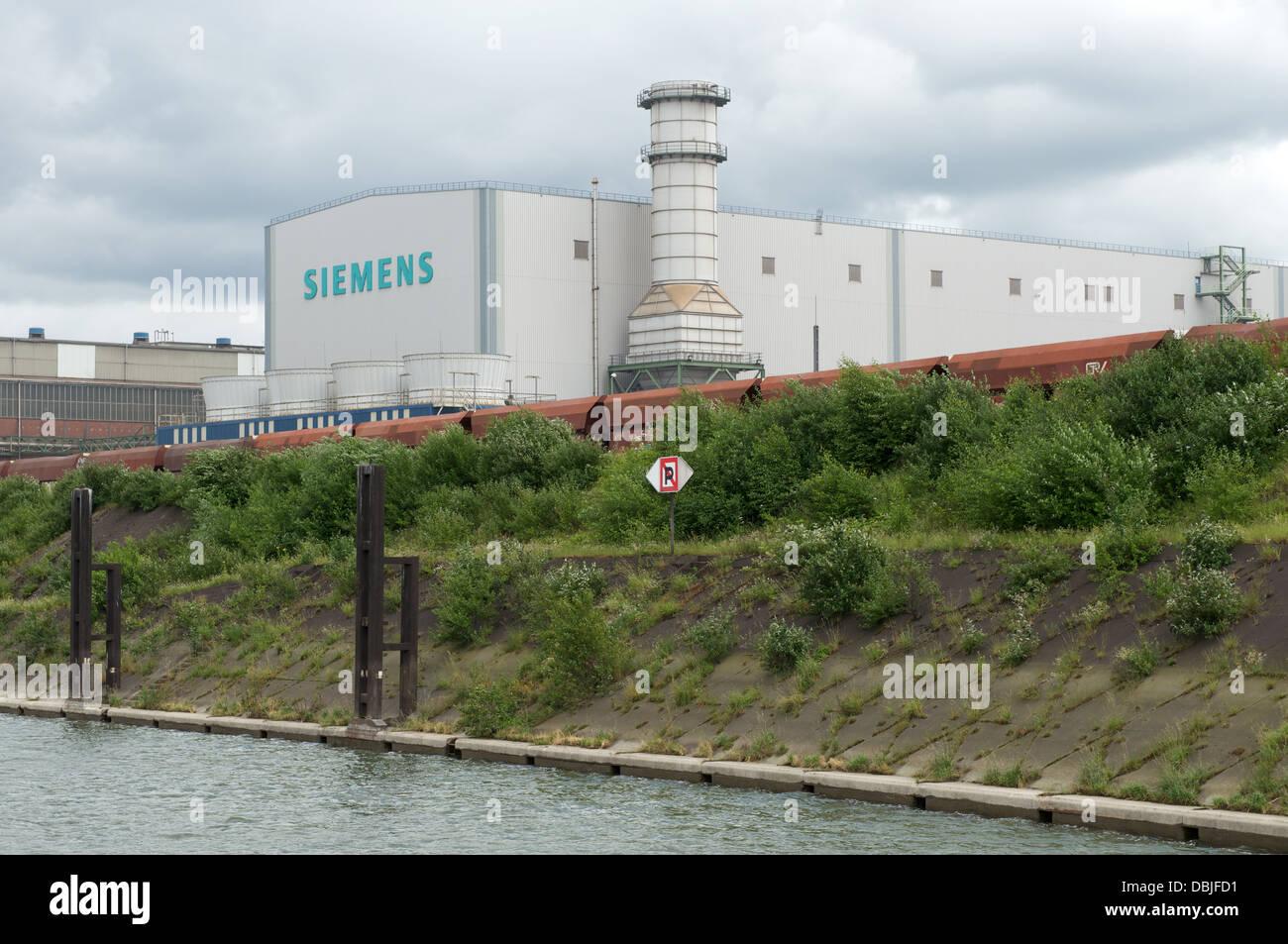 Siemens factory Duisburg Germany - Stock Image